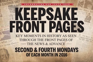 Keepsake Front Pages - Second and Fourth Mondays of each month in 2016